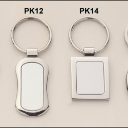 Keyrings Polished silver keyring with matte silver engravable aluminum insert.