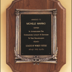 Plaques with Metal Accessories Laser engravable plate(s). Solid brass engraving plate(s). Individually boxed.